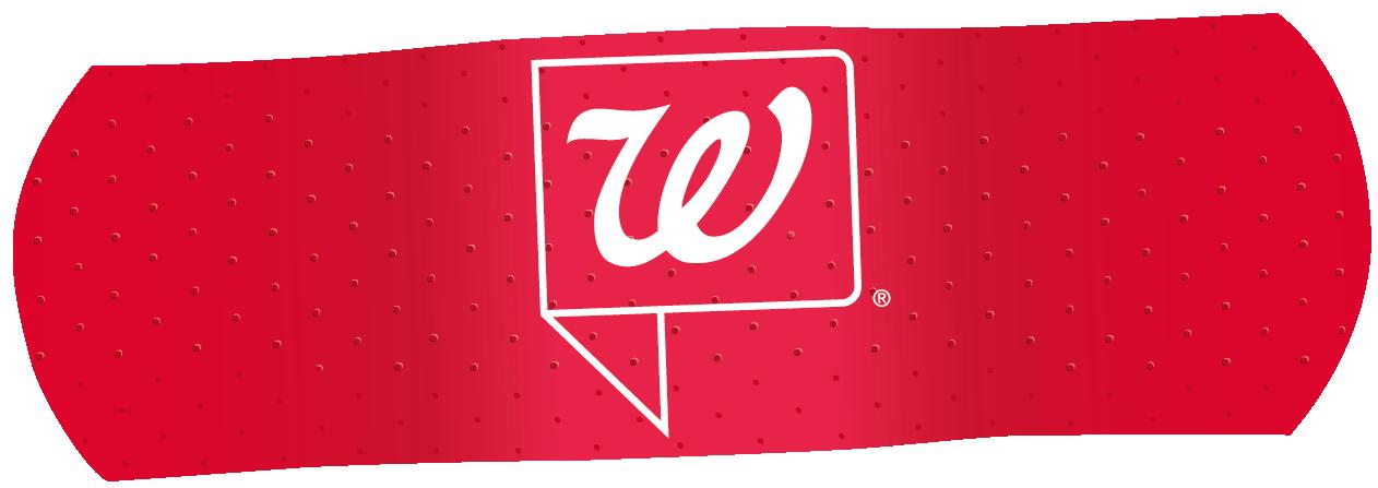 Walgreens Logo in Red Bandaid