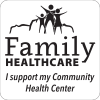 family healthcare decal - i support my community health center with logo