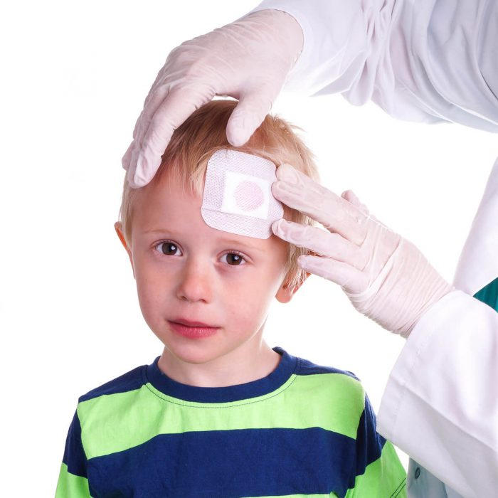 child receiving urgent care