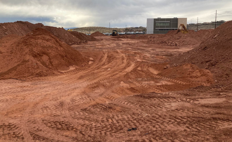 Dirt moving at site for new Riverside Clinic February 24 2021