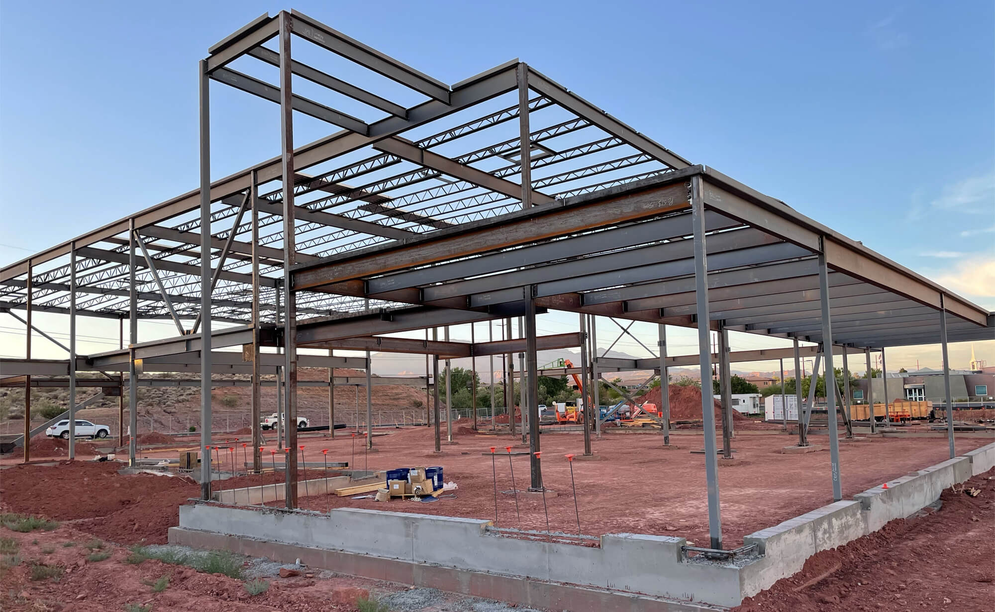 Riverside Clinic building starting to take shape as steel frame is constructed