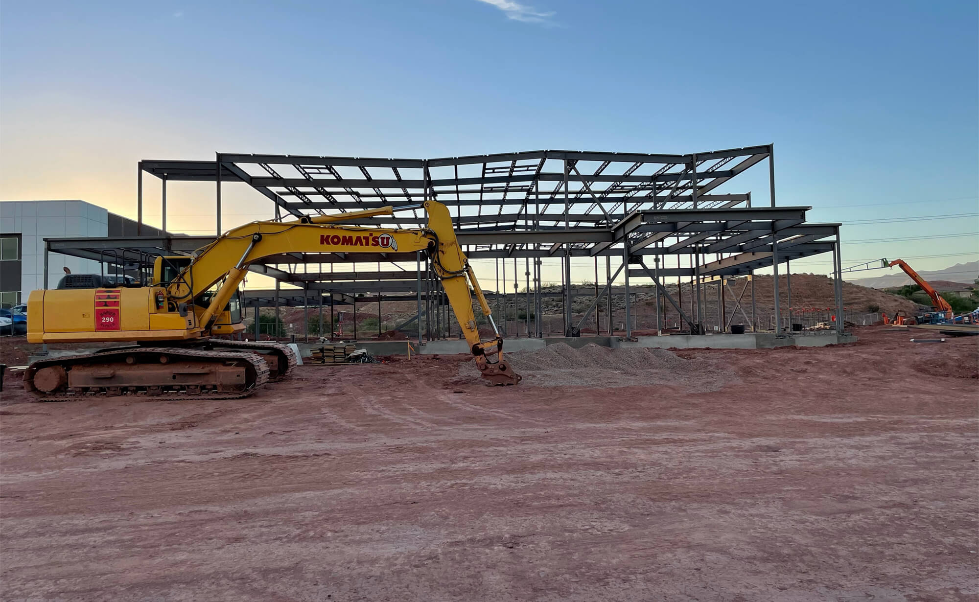 Riverside Clinic building starting to take shape as steel frame is being constructed